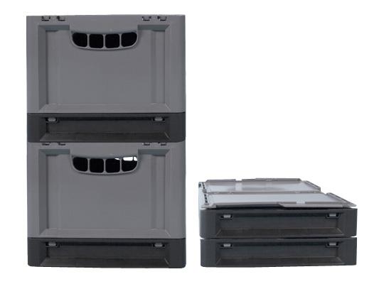 clever move klappbox mit deckel 600 x 400 x h 343 mm transoplast gmbh. Black Bedroom Furniture Sets. Home Design Ideas