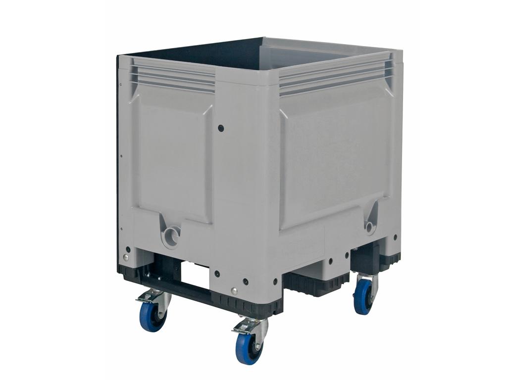big box kunststoff palettenbox 800 x 600 mm auf rollen. Black Bedroom Furniture Sets. Home Design Ideas