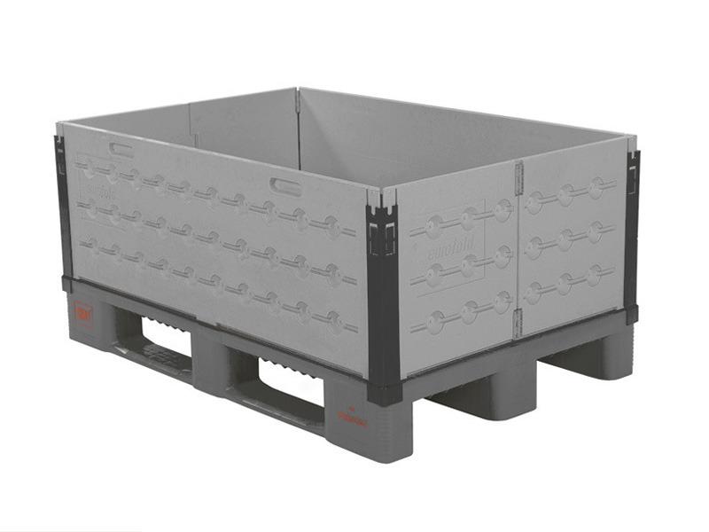 faltbarer aufsatzrahmen aus kunststoff 1200 x 800 mm lebensmittelecht 6 scharniere. Black Bedroom Furniture Sets. Home Design Ideas